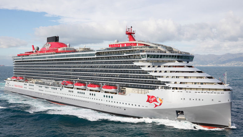 The Scarlet Lady, which was delivered in February 2020. The start of the cruise giveaway coincides with the anniversary of its delivery.