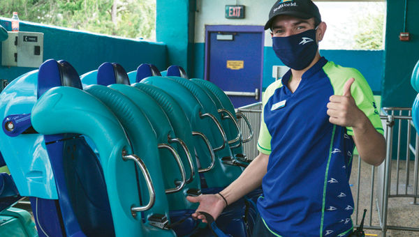 All SeaWorld Orlando employees and guests are required to wear face coverings.