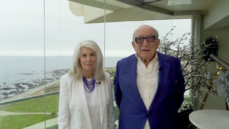 Beatrice and Stanley Tollman in South Africa in 2020, when they accepted a Lifetime Achievement Award from Travel Weekly.
