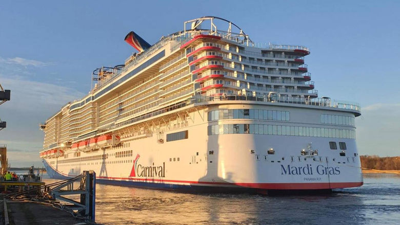 Carnival Corp. plans to have 50 ships, or 61% of its capacity, back by Nov. 30. Pictured, Carnival's new Mardi Gras.