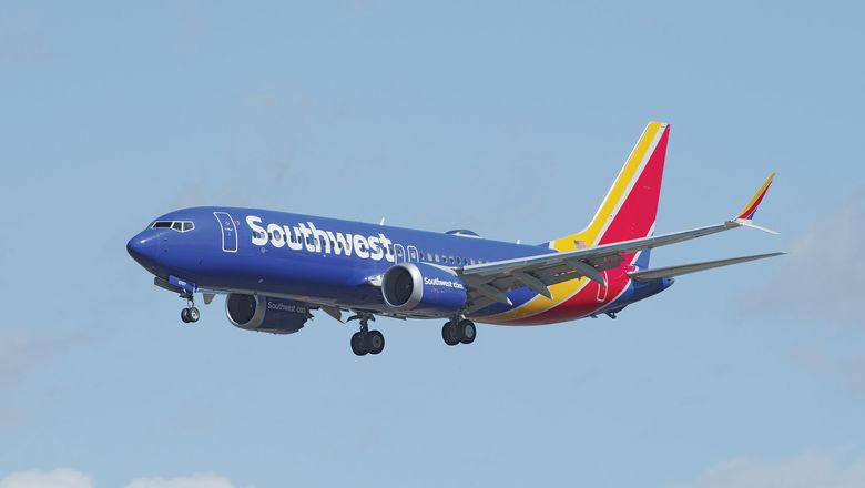 Southwest Boeing 737 Max 8 [Credit: Angel DiBilio/Shutterstock.com]