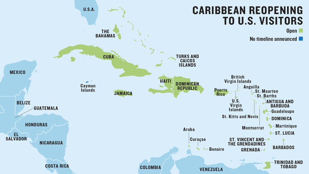 The latest Caribbean travel restrictions and islands open to U.S. travelers