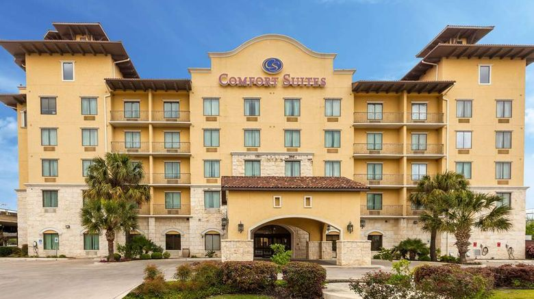 """Comfort Suites Alamo/Riverwalk Exterior. Images powered by <a href=""""http://web.iceportal.com"""" target=""""_blank"""" rel=""""noopener"""">Ice Portal</a>."""