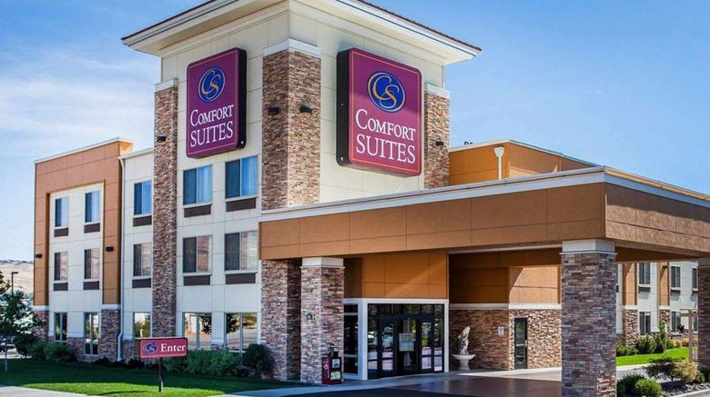"""Comfort Suites Wenatchee Exterior. Images powered by <a href=""""http://web.iceportal.com"""" target=""""_blank"""" rel=""""noopener"""">Ice Portal</a>."""