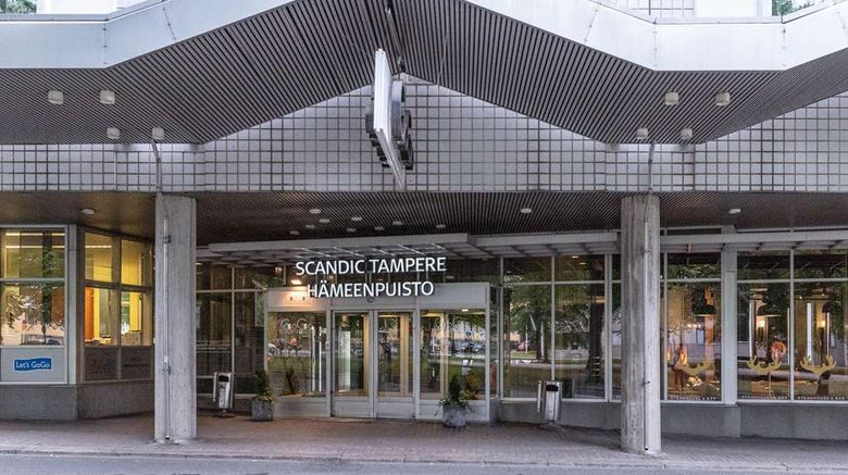"""Scandic Hameenpuisto Tampere Exterior. Images powered by <a href=""""http://web.iceportal.com"""" target=""""_blank"""" rel=""""noopener"""">Ice Portal</a>."""