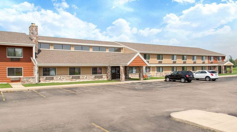 """AmericInn by Wyndham Elkhorn Exterior. Images powered by <a href=""""http://web.iceportal.com"""" target=""""_blank"""" rel=""""noopener"""">Ice Portal</a>."""