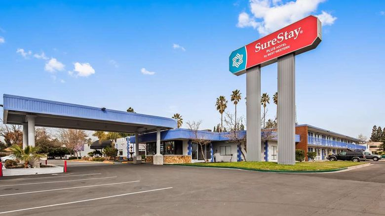 """SureStay Plus Hotel by BW Cal Expo Exterior. Images powered by <a href=""""http://web.iceportal.com"""" target=""""_blank"""" rel=""""noopener"""">Ice Portal</a>."""