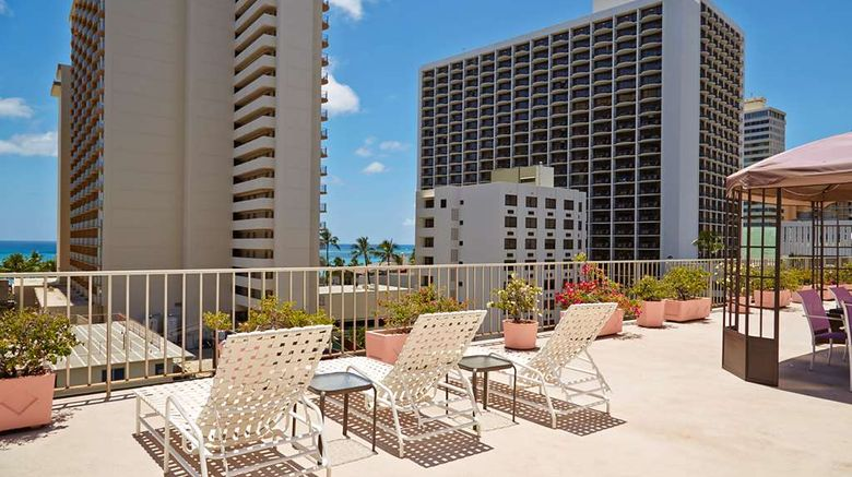 """Ewa Hotel Waikiki, a LITE hotel Exterior. Images powered by <a href=""""http://web.iceportal.com"""" target=""""_blank"""" rel=""""noopener"""">Ice Portal</a>."""