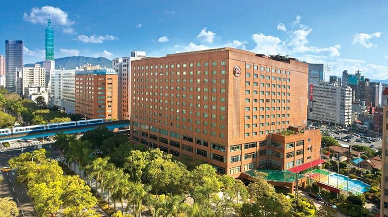 """The Howard Plaza Hotel Taipei Exterior. Images powered by <a href=""""http://web.iceportal.com"""" target=""""_blank"""" rel=""""noopener"""">Ice Portal</a>."""