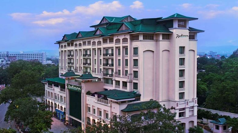"""Radisson Jaipur City Center Exterior. Images powered by <a href=""""http://web.iceportal.com"""" target=""""_blank"""" rel=""""noopener"""">Ice Portal</a>."""