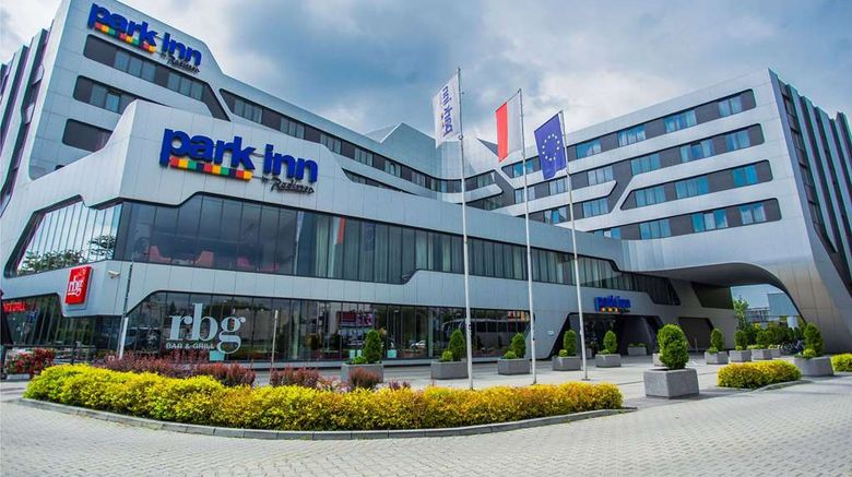 """Park Inn by Radisson Krakow Exterior. Images powered by <a href=""""http://web.iceportal.com"""" target=""""_blank"""" rel=""""noopener"""">Ice Portal</a>."""