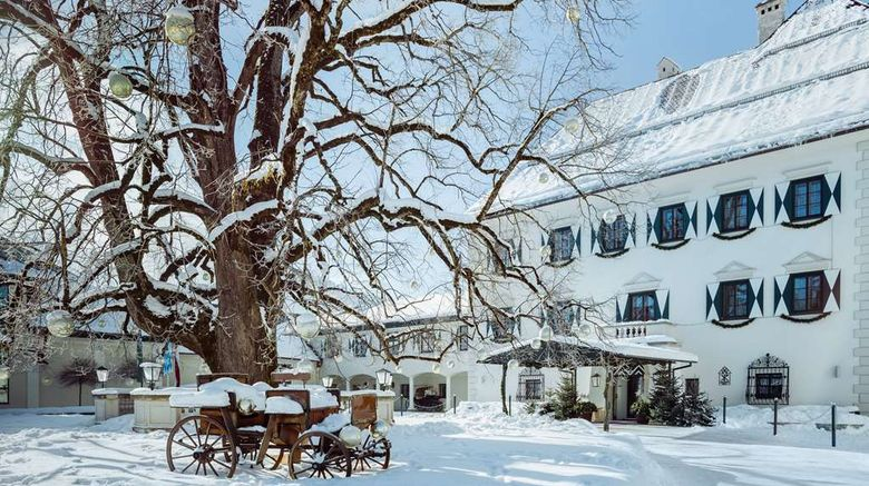 """Schloss Pichlarn Hotel Exterior. Images powered by <a href=""""http://web.iceportal.com"""" target=""""_blank"""" rel=""""noopener"""">Ice Portal</a>."""