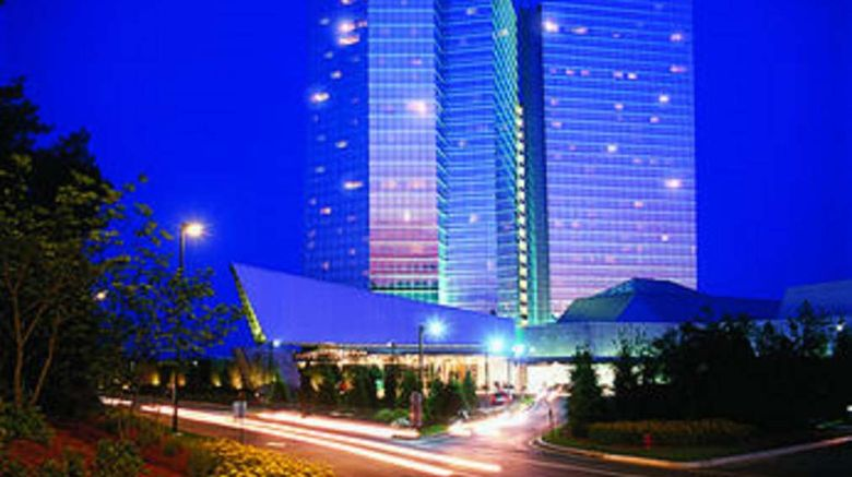 """Mohegan Sun Exterior. Images powered by <a href=""""http://web.iceportal.com"""" target=""""_blank"""" rel=""""noopener"""">Ice Portal</a>."""
