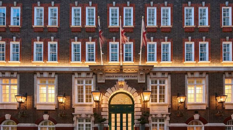 """Great Scotland Yard Hotel Exterior. Images powered by <a href=""""http://web.iceportal.com"""" target=""""_blank"""" rel=""""noopener"""">Ice Portal</a>."""