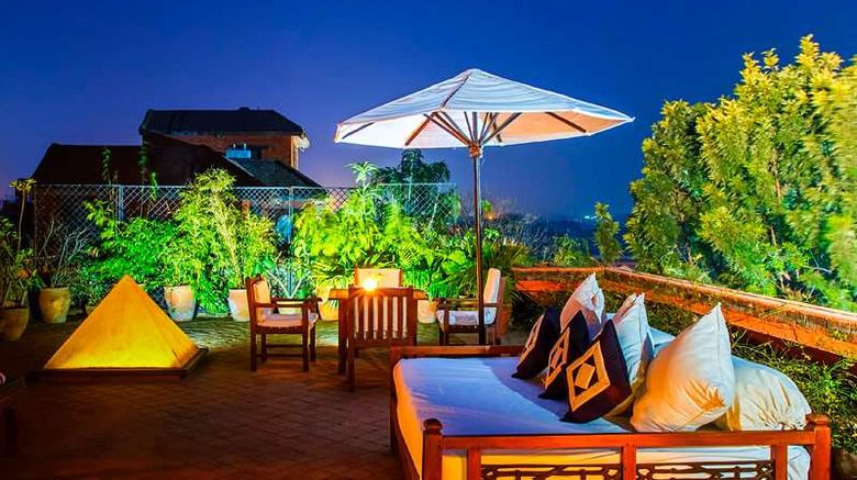 """<b>Dwarika's Hotel Exterior</b>. Images powered by <a href=""""https://iceportal.shijigroup.com/"""" title=""""IcePortal"""" target=""""_blank"""">IcePortal</a>."""