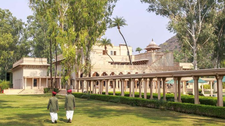 """Amanbagh Exterior. Images powered by <a href=""""http://web.iceportal.com"""" target=""""_blank"""" rel=""""noopener"""">Ice Portal</a>."""