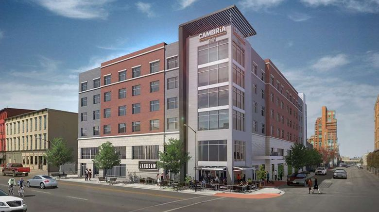 """Cambria Hotel Louisville Downtown Exterior. Images powered by <a href=""""http://web.iceportal.com"""" target=""""_blank"""" rel=""""noopener"""">Ice Portal</a>."""