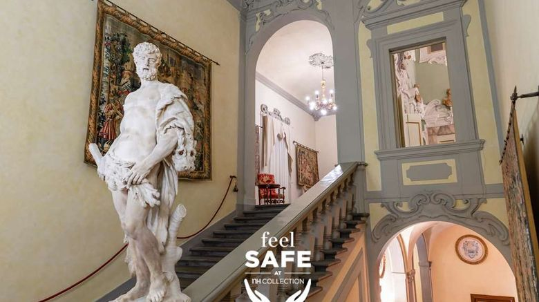 """NH Collection Palazzo Gaddi Lobby. Images powered by <a href=""""http://web.iceportal.com"""" target=""""_blank"""" rel=""""noopener"""">Ice Portal</a>."""