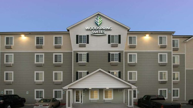 """WoodSpring Suites San Antonio Fort Sam Exterior. Images powered by <a href=""""http://web.iceportal.com"""" target=""""_blank"""" rel=""""noopener"""">Ice Portal</a>."""