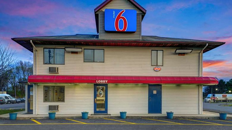 """Motel 6 Carlisle-Cumberland Valley Exterior. Images powered by <a href=""""http://web.iceportal.com"""" target=""""_blank"""" rel=""""noopener"""">Ice Portal</a>."""