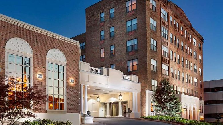 """Collegian Hotel  and  Suites Trademark Coll Exterior. Images powered by <a href=""""http://web.iceportal.com"""" target=""""_blank"""" rel=""""noopener"""">Ice Portal</a>."""