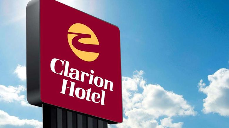"""Clarion Hotel Conference Center Exterior. Images powered by <a href=""""http://web.iceportal.com"""" target=""""_blank"""" rel=""""noopener"""">Ice Portal</a>."""