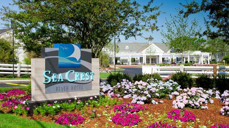 """Sea Crest Oceanfront Resort Exterior. Images powered by <a href=""""http://web.iceportal.com"""" target=""""_blank"""" rel=""""noopener"""">Ice Portal</a>."""