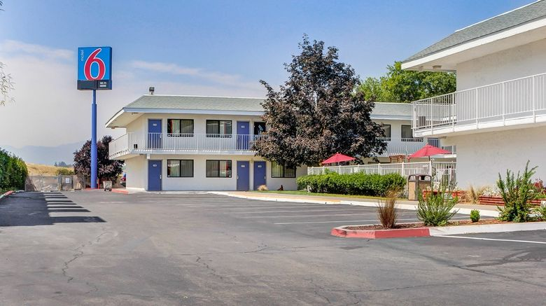 """Motel 6 Medford South Exterior. Images powered by <a href=""""http://web.iceportal.com"""" target=""""_blank"""" rel=""""noopener"""">Ice Portal</a>."""