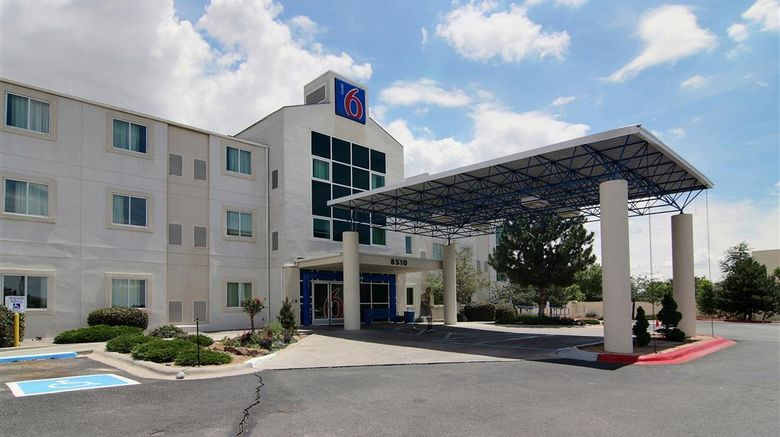 """Motel 6 Albuquerque North Exterior. Images powered by <a href=""""http://web.iceportal.com"""" target=""""_blank"""" rel=""""noopener"""">Ice Portal</a>."""