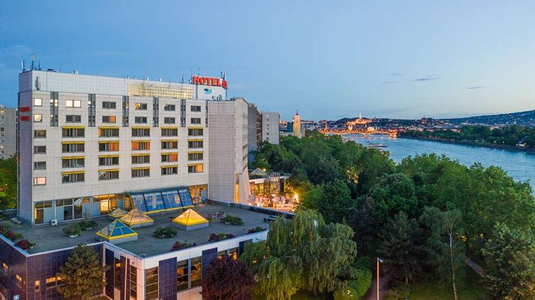 """Danubius Hotel Helia Exterior. Images powered by <a href=""""http://web.iceportal.com"""" target=""""_blank"""" rel=""""noopener"""">Ice Portal</a>."""