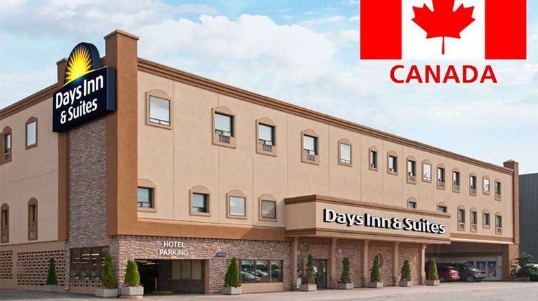 """Days Inn  and  Suites Sault Ste Marie Exterior. Images powered by <a href=""""http://web.iceportal.com"""" target=""""_blank"""" rel=""""noopener"""">Ice Portal</a>."""