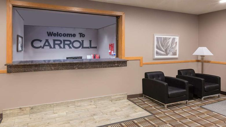 """<b>Super 8 Carroll/East Lobby</b>. Images powered by <a href=""""https://iceportal.shijigroup.com/"""" title=""""IcePortal"""" target=""""_blank"""">IcePortal</a>."""