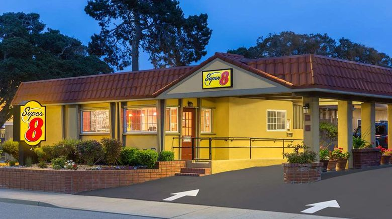 """Super 8 Monterey Exterior. Images powered by <a href=""""http://web.iceportal.com"""" target=""""_blank"""" rel=""""noopener"""">Ice Portal</a>."""