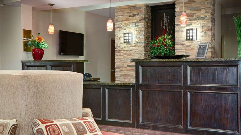 """Best Western Plus Cushing Inn  and  Suites Lobby. Images powered by <a href=""""http://web.iceportal.com"""" target=""""_blank"""" rel=""""noopener"""">Ice Portal</a>."""