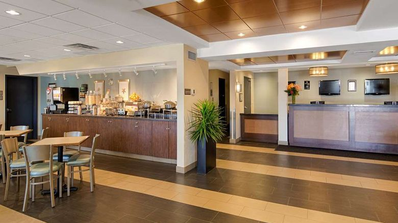 """Best Western Thompson Hotel  and  Suites Lobby. Images powered by <a href=""""http://web.iceportal.com"""" target=""""_blank"""" rel=""""noopener"""">Ice Portal</a>."""