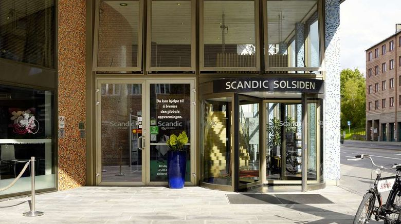 """Scandic Hotel Solsiden Exterior. Images powered by <a href=""""http://web.iceportal.com"""" target=""""_blank"""" rel=""""noopener"""">Ice Portal</a>."""