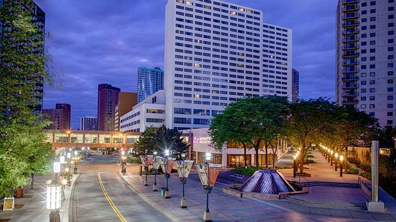 "Hyatt Regency Minneapolis Exterior. Images powered by <a href=""http://web.iceportal.com"" target=""_blank"" rel=""noopener"">Ice Portal</a>."