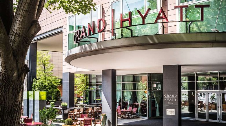 """Grand Hyatt Berlin Exterior. Images powered by <a href=""""http://web.iceportal.com"""" target=""""_blank"""" rel=""""noopener"""">Ice Portal</a>."""
