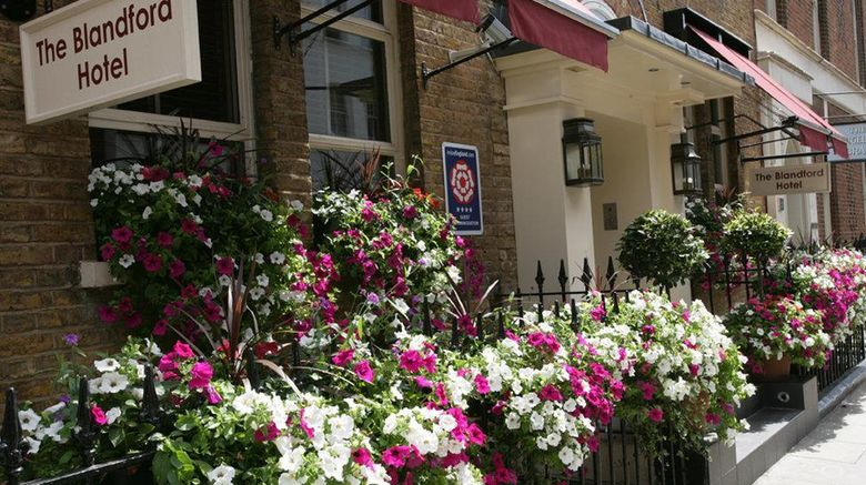 """Blandford Hotel Exterior. Images powered by <a href=""""http://web.iceportal.com"""" target=""""_blank"""" rel=""""noopener"""">Ice Portal</a>."""