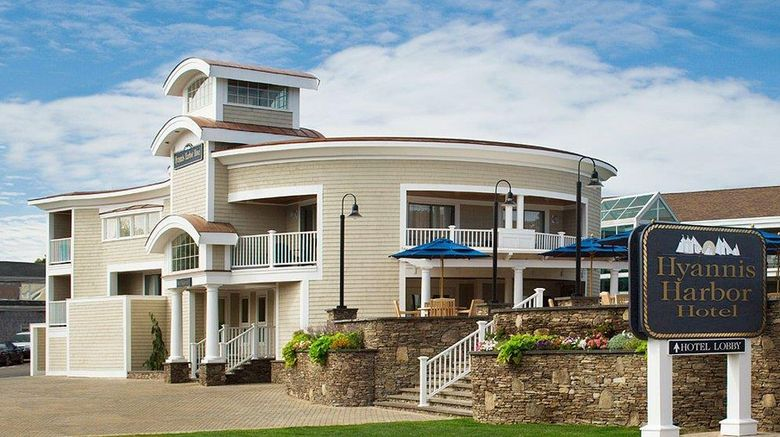 """Hyannis Harbor Hotel Exterior. Images powered by <a href=""""http://web.iceportal.com"""" target=""""_blank"""" rel=""""noopener"""">Ice Portal</a>."""