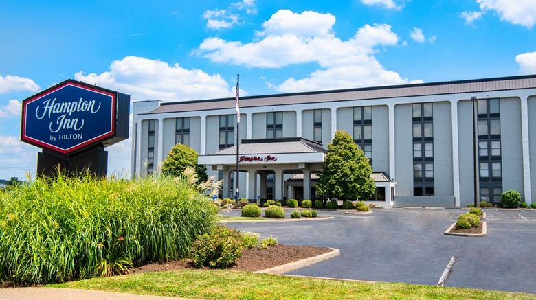 """Hampton Inn Evansville Exterior. Images powered by <a href=""""http://web.iceportal.com"""" target=""""_blank"""" rel=""""noopener"""">Ice Portal</a>."""