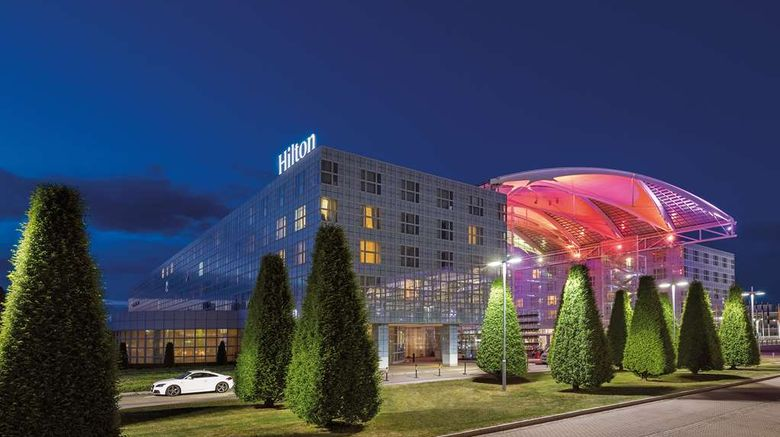 """Hilton Munich Airport Exterior. Images powered by <a href=""""http://web.iceportal.com"""" target=""""_blank"""" rel=""""noopener"""">Ice Portal</a>."""