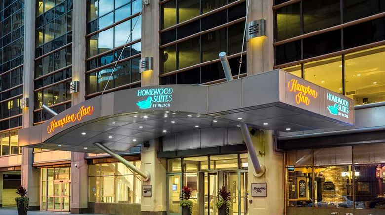 """Hampton Inn Downtown/Magnificent Mile Exterior. Images powered by <a href=""""http://web.iceportal.com"""" target=""""_blank"""" rel=""""noopener"""">Ice Portal</a>."""