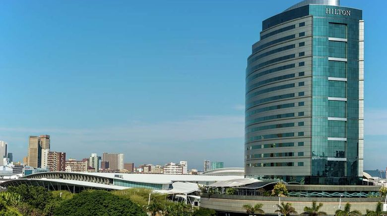 """Hilton Durban Exterior. Images powered by <a href=""""http://web.iceportal.com"""" target=""""_blank"""" rel=""""noopener"""">Ice Portal</a>."""