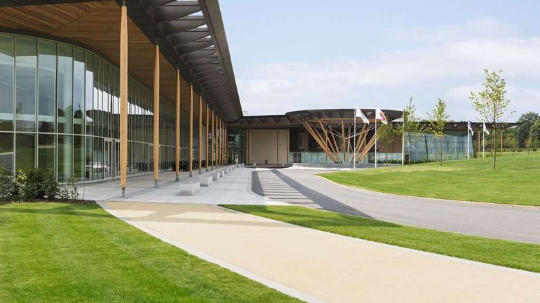 """Hilton at St Georges Park Exterior. Images powered by <a href=""""http://web.iceportal.com"""" target=""""_blank"""" rel=""""noopener"""">Ice Portal</a>."""
