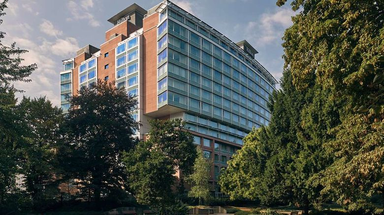 """Hilton Frankfurt City Centre Exterior. Images powered by <a href=""""http://web.iceportal.com"""" target=""""_blank"""" rel=""""noopener"""">Ice Portal</a>."""