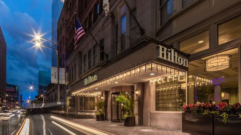 """Hilton St Louis Downtown Exterior. Images powered by <a href=""""http://web.iceportal.com"""" target=""""_blank"""" rel=""""noopener"""">Ice Portal</a>."""