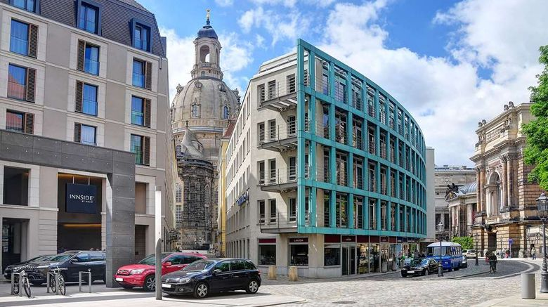 """INNSIDE Dresden Exterior. Images powered by <a href=""""http://web.iceportal.com"""" target=""""_blank"""" rel=""""noopener"""">Ice Portal</a>."""