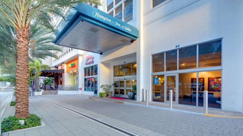 """Hampton Inn  and  Suites Miami Brickell Exterior. Images powered by <a href=""""http://web.iceportal.com"""" target=""""_blank"""" rel=""""noopener"""">Ice Portal</a>."""