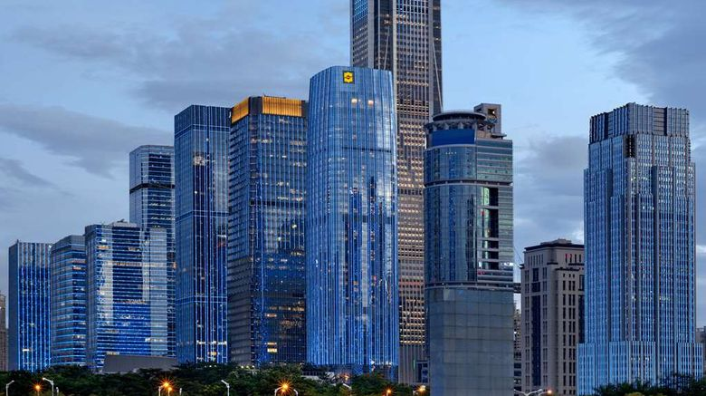 """Shangri-La Futian Shenzhen Exterior. Images powered by <a href=""""http://web.iceportal.com"""" target=""""_blank"""" rel=""""noopener"""">Ice Portal</a>."""